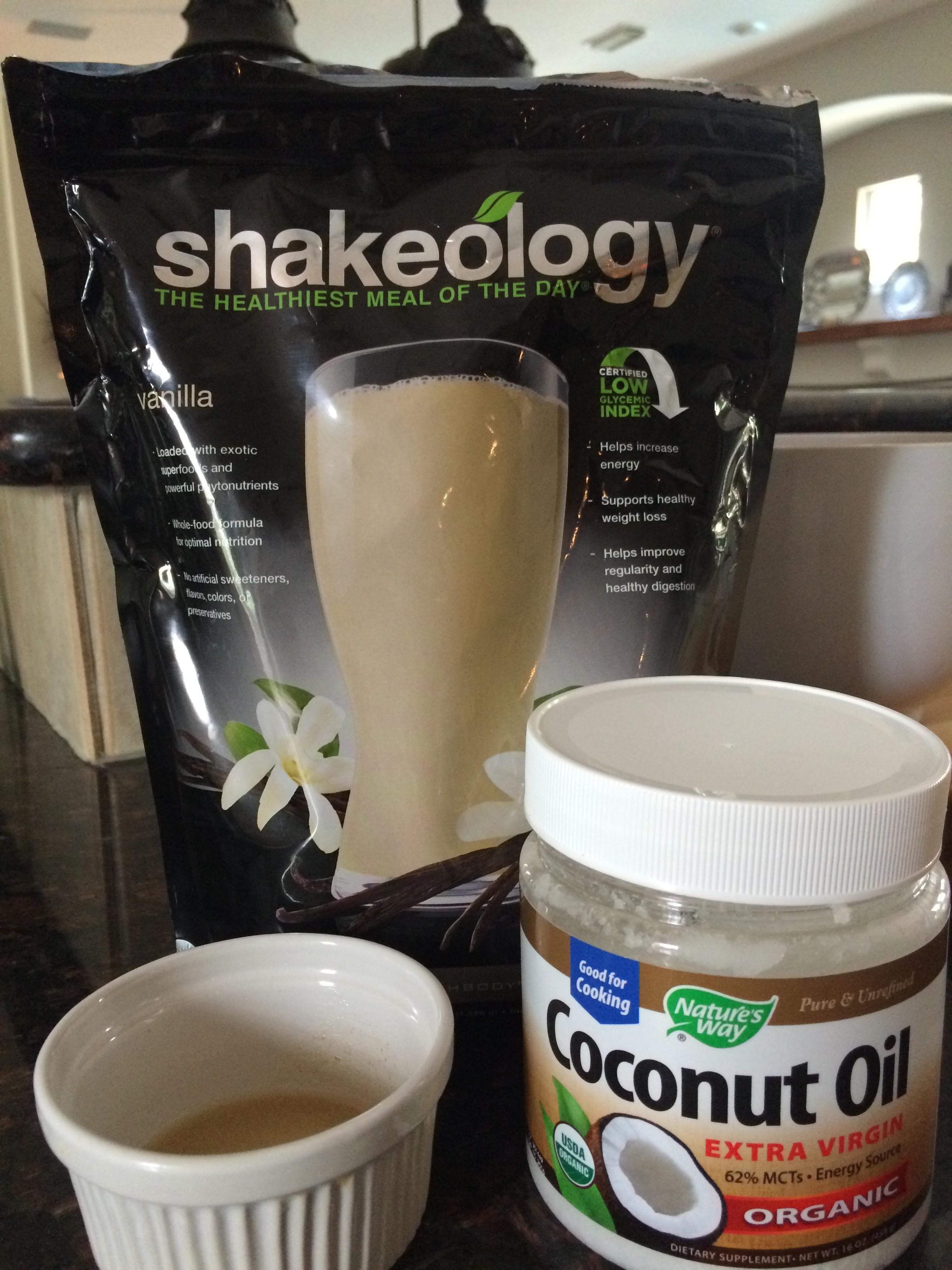 Coconut Vanilla Shakeology Glaze