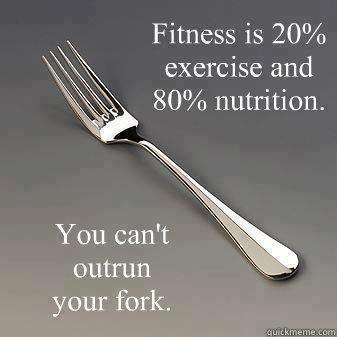 You can't out train a bad diet!