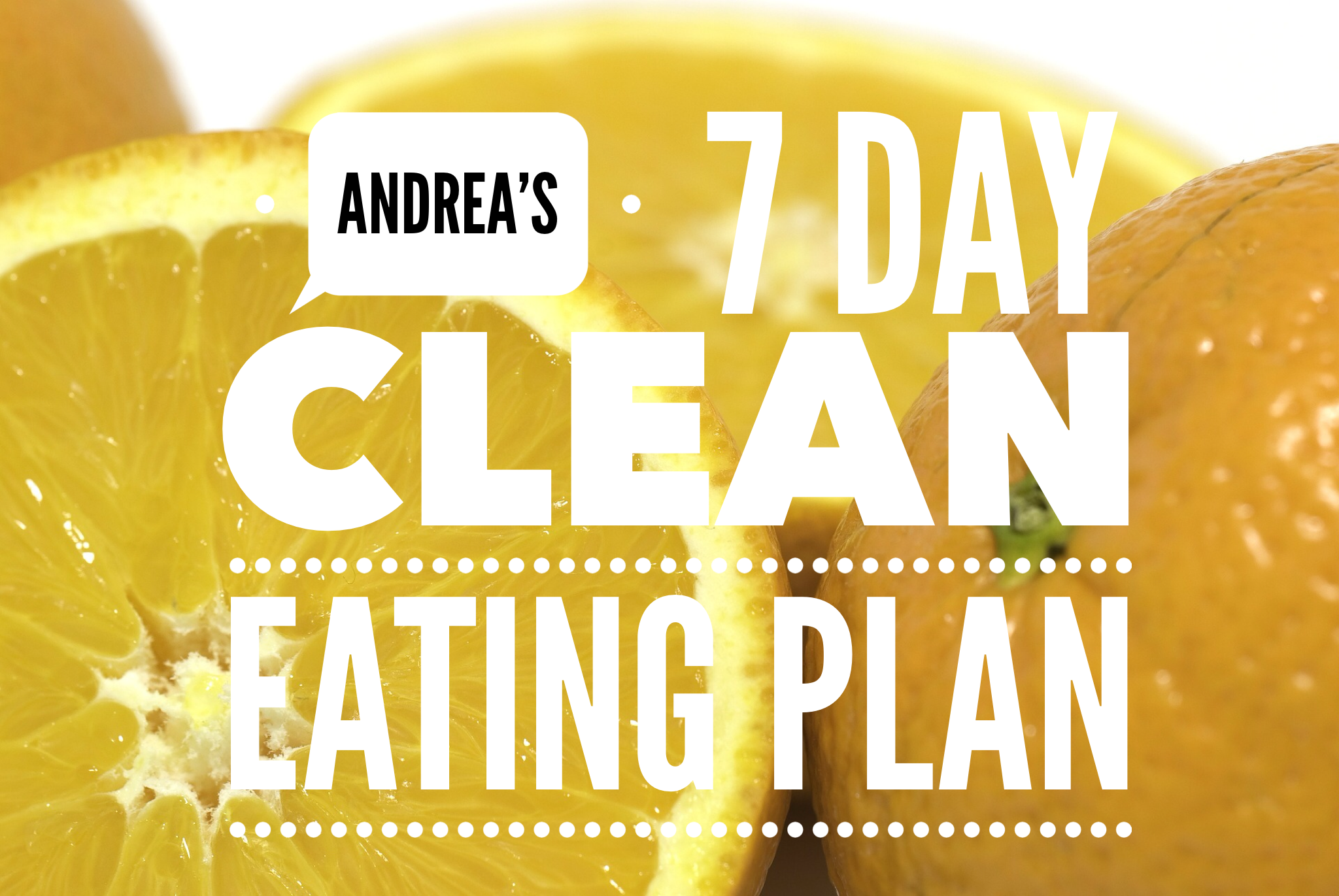 7 Day Clean Eating Plan