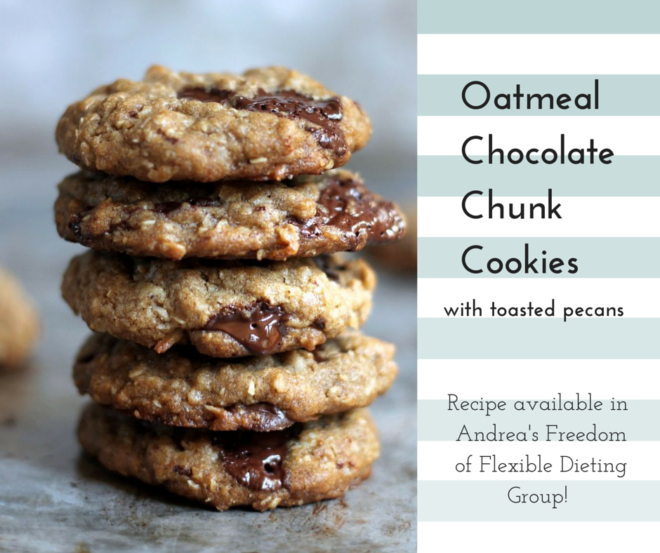 Oatmeal Cookies with Chocolate Chunks – Andrea Williams