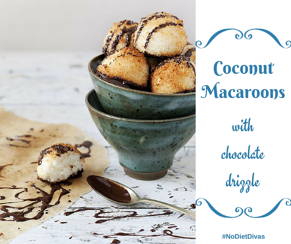 Coconut Macaroons with Chocolate Drizzle - Andrea Williams