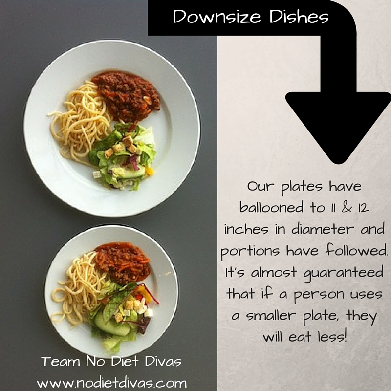 Downsize Dishes - eat less!