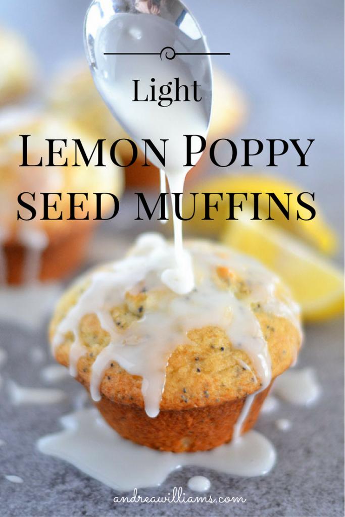 Light Lemon Poppy Seed Muffins! Gluten-Free