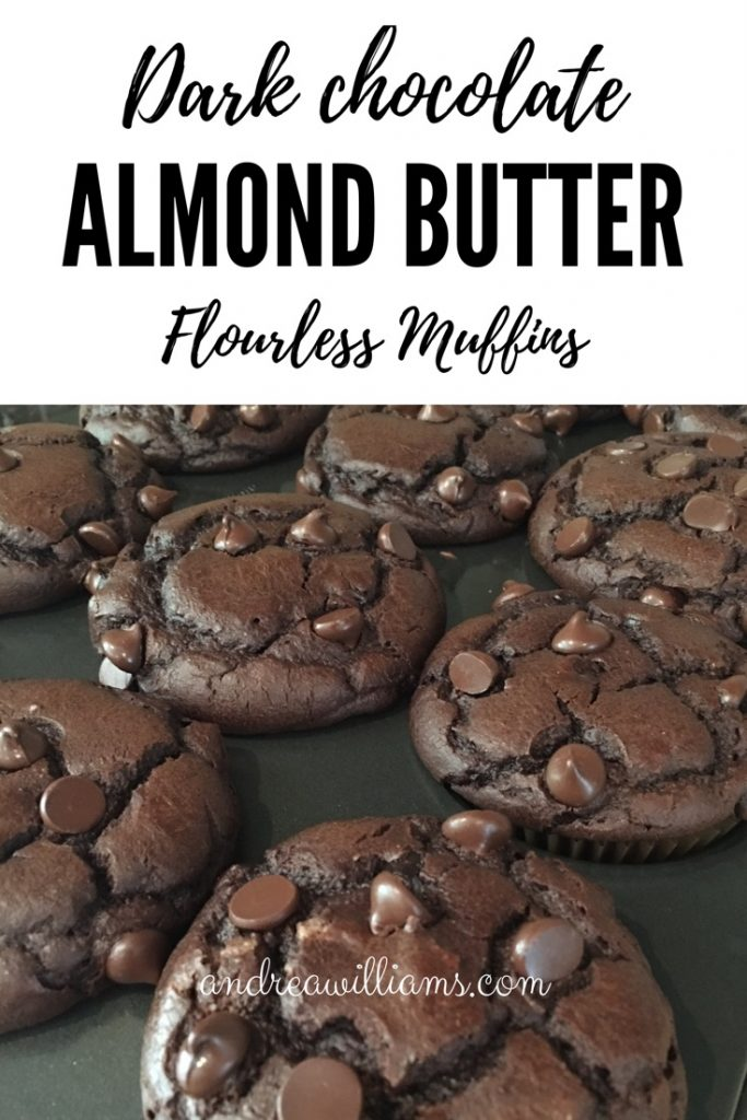 Flourless Double Dark Chocolate Almond Butter Muffins